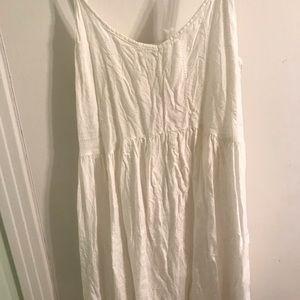 White Flowy Billabong Dress